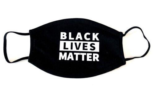 BLACK LIVES MATTER Face Mask in Black