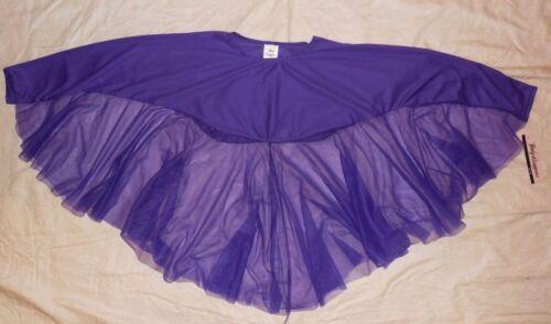 NWT Body Wrappers Liturgical Praise Angel Drape Chiffon Girls L/XL Dark Purple