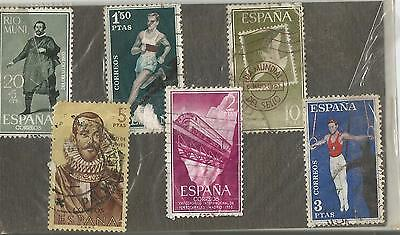SPAIN; LOT OF 6 STAMPS;USED
