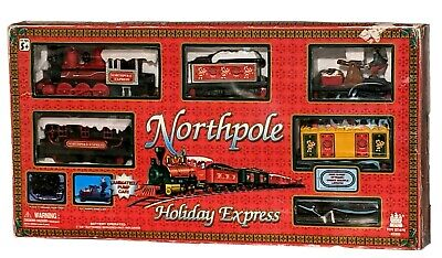 Vintage Christmas Train Set for Kids North Pole Holiday Express Animated Elf