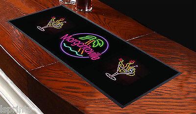 Margaritaville Design Bar Runner Bar Mat Great Gift Idea Pubs Clubs Parties