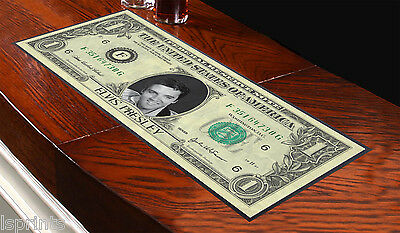 BANK OF ELVIS DESIGN BAR RUNNER IDEAL FOR HOME COCKTAIL PARTY PUB BEER MAT