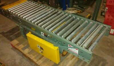 Hytrol 24 Bor Belt Over Roller Conveyor 7 Ft Drive Section With Pulley Works