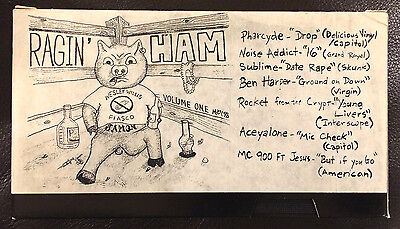 Rare SUBLIME Skunk Records Ragin' Ham VHS Tape w/Pharcyde, Rocket From The Crypt