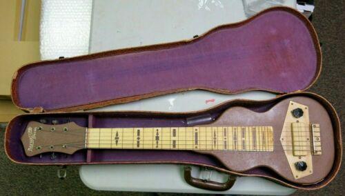 Vintage Gibson Mastertone Special Lap Steel Guitar 1940 Crinkle Tan