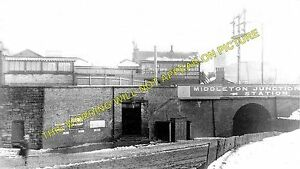 Middleton Junction Railway Station Photo. Moston - Castleton. Rochdale Line. LYR
