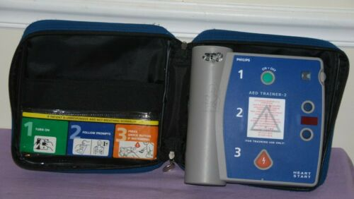 Philips (M3752A) Heartstart AED Defibrillator Trainer 2 Unit -- Great Condition
