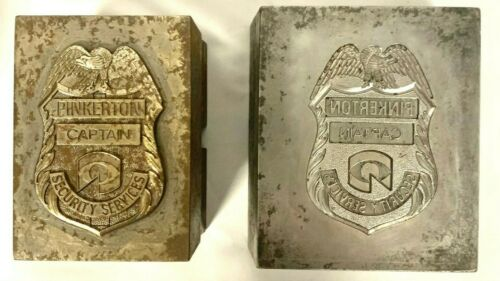 Blackinton Co. Steel Die for Obsolete Pinkerton Security Services CAPTAIN badge