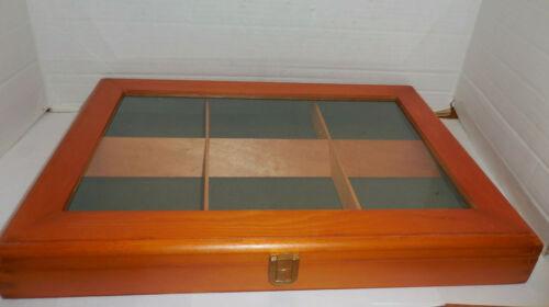 "Wood & Plastic Display Case 14.5"" x 10.5"""