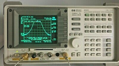Agilent Hp 8591c Cable Tv Analyzer 1 Mhz - 1.8 Ghz Tracking Genopt 011107