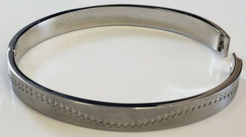 Designer Signed Hall of Fame Baseball Stitched Stainless Steel Bracelet Bangle