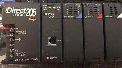 Automation Direct Logic Koyo Plc D2-04b D2-230 D2-08nd3 D2-08tr Rack Chasis
