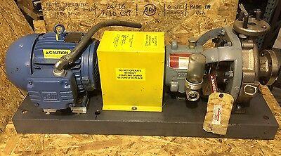 Flowserve Pump MK3 STD ~ 1K1.5x1 - 82RV/8.00 ~ Weg W21 Severe Duty Motor ~ 3 HP