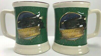 The POLAR EXPRESS Train Believe Christmas Hot Chocolate 3D Coffee Mugs Set of 2