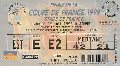 ticket Final cup France 1999