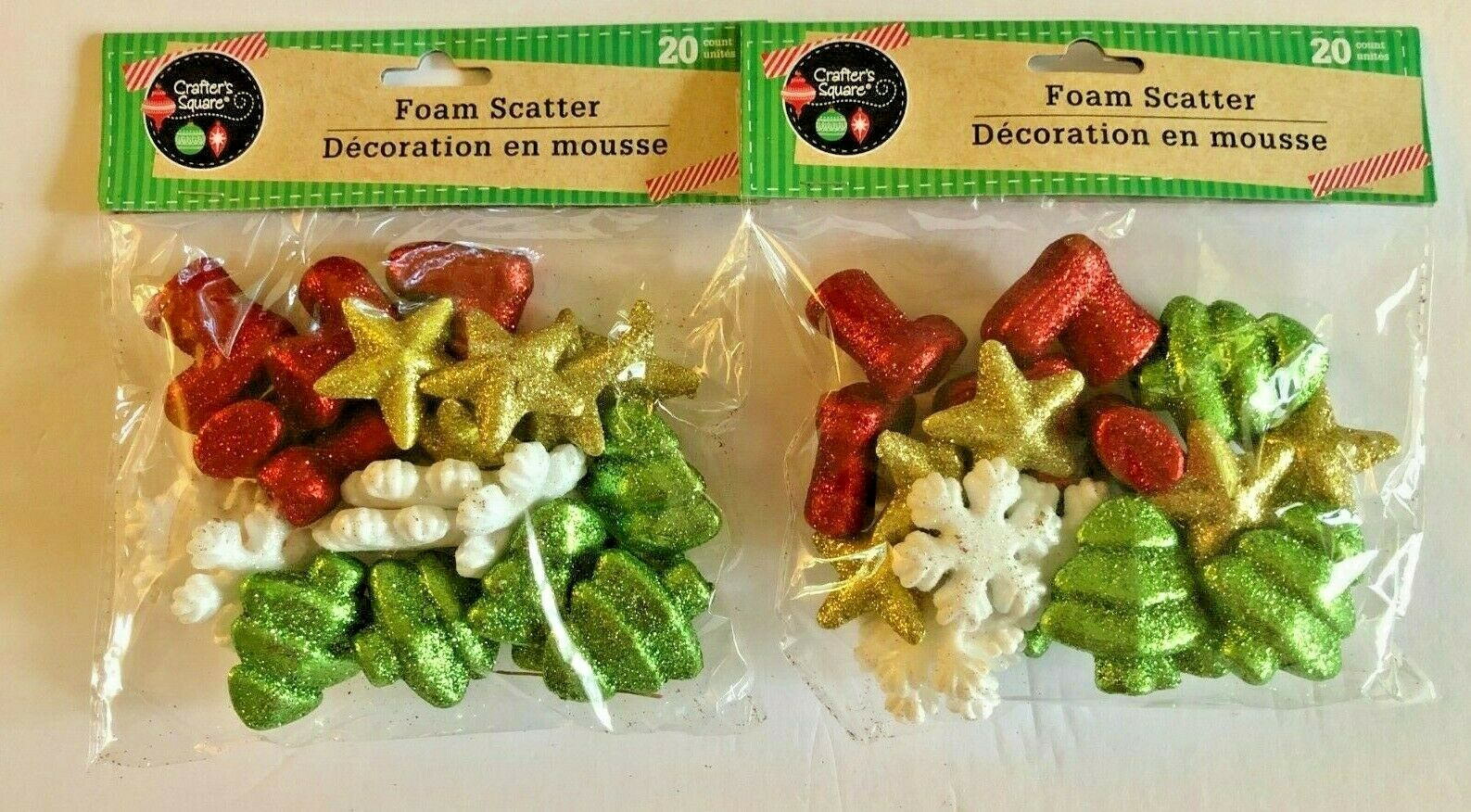 Crafter's Square Foam Scatter/Holidays - 2 packs/40 Pieces-B