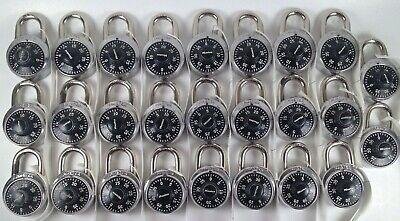 Lot Of 26 Master Lock Combination Locker Style Locks With Combinations