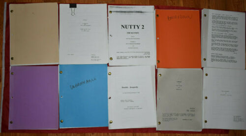 35) Movie Script Lot #3 Unproduced and Produced Rare Screenplays Unbreakable