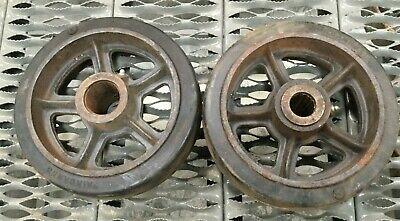 Lot Of 2 Vintage Fairbanks 10 Rubber Caster Wheel