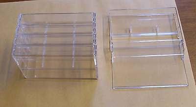 5 Kassettenhüllen Leerhüllen f. Cassetten MCs Hüllen transparent  Kassetten Neu