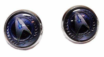 Star Trek The Next Generation Starfleet Command Glass Domed Earrings