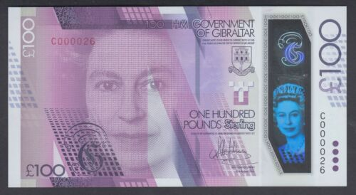 Gibraltar 100 Pounds 2015 UNC P. 40,  Banknote, Uncirculated