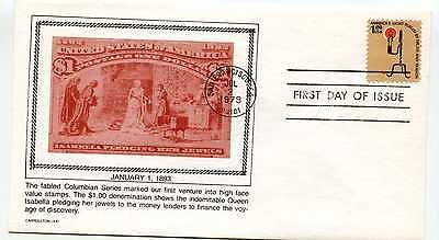 1610 $1. Rush Lamp, Americana series, Carrollton FDC