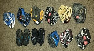 kids baseball gloves both left and right great condition