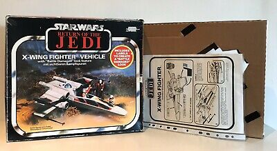 Vintage Star Wars Palitoy (1983) ROTJ X-Wing Fighter Box Insert and Instructions