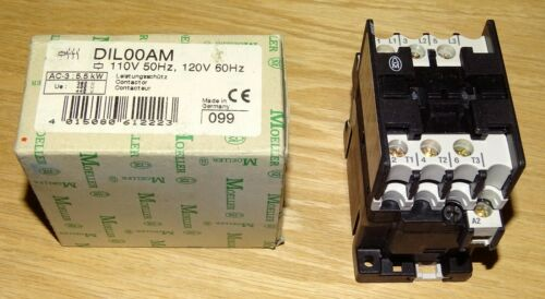 NEW Klockner Moeller DIL00AM contactor, Made in Germany, 120 Volt AC coil