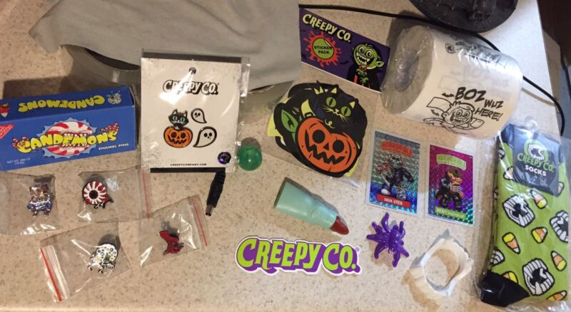 Creepy Co Beistle Trick Or Treat Bag Halloween  Horror Lot Fright Rags