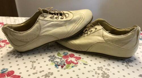 Airstep Damen Leder Schuhe Sneaker Beige Gr. 38 - Neuwertig
