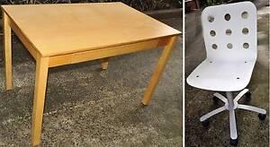 Small hardwood veneer desk with chair North Bondi Eastern Suburbs Preview