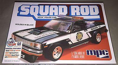 MPC 1979 Chevy Nova Squad Rod Police Car 1/25 model car kit new 851
