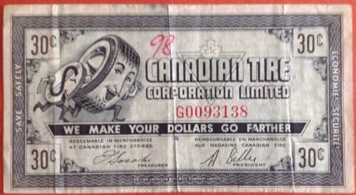 Canadian Tire Coupon CTC -7 3c G 0680255