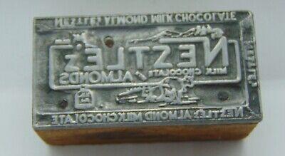Printing Letterpress Printers Block Neztlez Almond Milk Chocolate