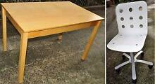 Small hardwood veneer desk with chair North Bondi Eastern Suburbs Preview