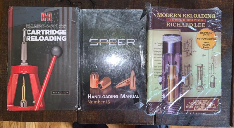 NEW! Lot Of 3 Reloading Handloading Manuals Hornady Speer Richard Lee Books