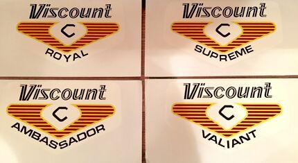 Viscount Royal Supreme Ambassador Valiant stickers Mooroopna Shepparton City Preview