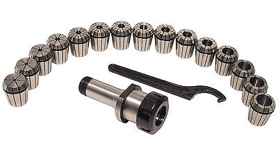 5c Shank Er40 Chuck With 15 Pc Collets Set