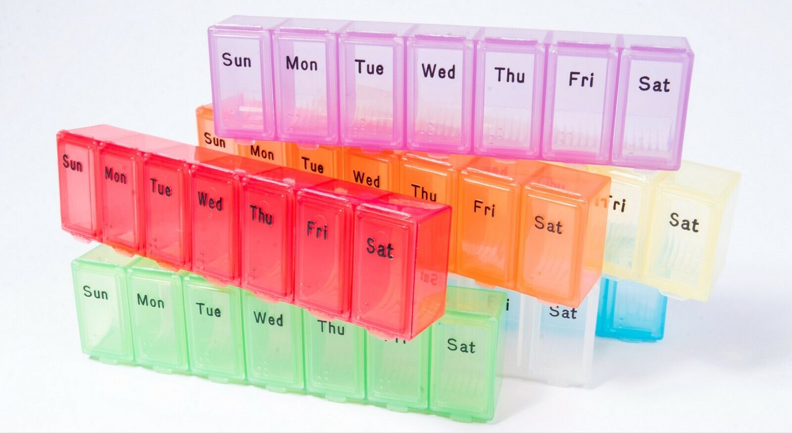 Small Weekly Pill Box - Item 325 IN PURPLE