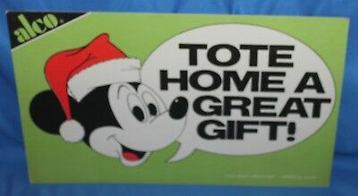 RARE WALT DISNEY PRODUCTIONS TOTE HOME A GREAT GIFT DISPLAY HEADER CARD 2 SIDED