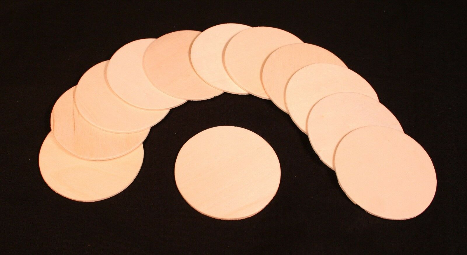 Unfinished 3″ Round Wood Shape Cutouts for Craft Parts- Ready to Decorate Crafting Pieces