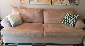 **PRICE REDUCED** Microsuede sofa & love seat