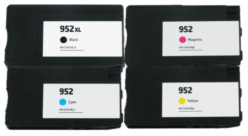 4PK Reman HP 952XL 952 Ink Cartridge Officejet Pro 8710 8715 8716 8720 8725 8728