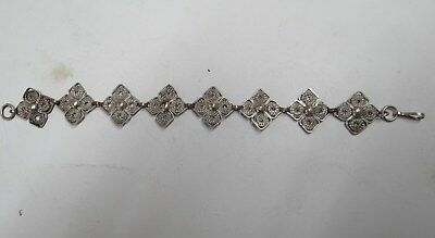 OLD EUROPEAN SILVER FILIGREE BRACELET