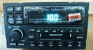 NEW & UNLOCKED BUICK AM/FM/CASSETTE RADIO MONSOON OEM FACTORY STEREO 09350904