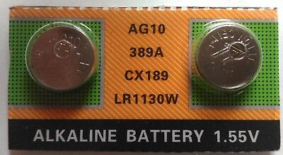 1.55v Button - New 2 Pieces 1.55V AG10 LR54 LR1130 L1131 389 189 Alkaline Button Cell Battery