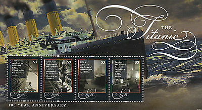 Nevis 2012 MNH RMS Titanic 100 Year Anniv Sinking 4v M/S Ships Boats Stamps