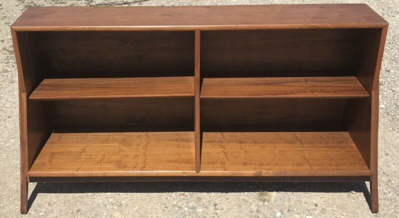 Very Cool Mid-Century Modern Kipp Stewart Drexel Declaration Walnut Bookcase